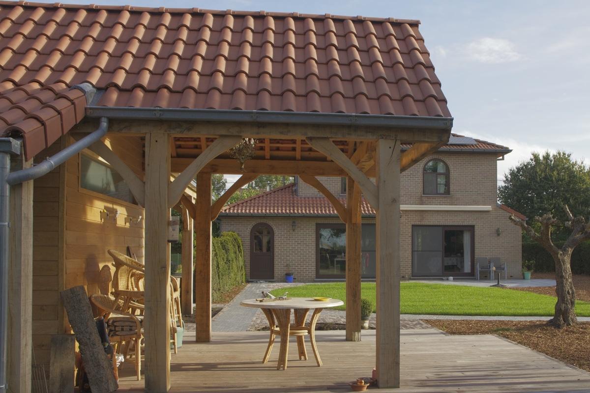 carport met zadeldak in hout
