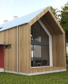 kantoor in tuin bouwen
